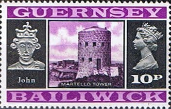 Guernsey 1971 SG 56 King John and Martello Tower Fine Mint
