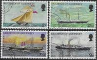 Guernsey 1972 Mail Packet Boats Set Fine Used