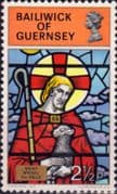 Guernsey 1973 Christmas Stained Glass SG 89 Fine Mint