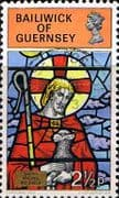 Guernsey 1973 Christmas Stained Glass SG 89 Fine Used
