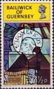 Guernsey 1973 Christmas Stained Glass SG 91 Fine Mint