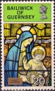 Guernsey 1973 Christmas Stained Glass SG 92 Fine Mint