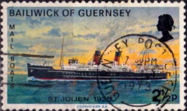 Guernsey 1973 Mail Packet Boats SG 80 St Julien Fine Used