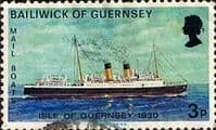 Guernsey 1973 Mail Packet Boats SG 81 Isle of Guernsey Good Used
