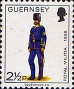 Guernsey 1974 Military Uniforms SG 102 Corporal, Royal Artillery Fine Mint