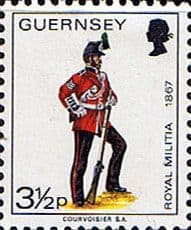 Channel Island Stamps Stamp Guernsey 1974 Military Uniforms SG 104 Sergeant 3rd Regiment Fine Mint