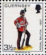 Guernsey 1974 Military Uniforms SG 104 Sergeant, 3rd Regiment Fine Mint