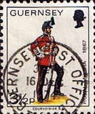British Regional Stamps Stamp Guernsey 1974 Military Uniforms SG 104 Sergeant 3rd Regiment Fine Used  SG 104 Scott 101