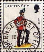 Guernsey 1974 Military Uniforms SG 104 Sergeant, 3rd Regiment Fine Used