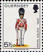 Guernsey 1974 Military Uniforms SG 106 Colour-Sergeant of Grenadiers Fine Mint