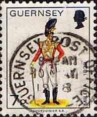 Postage Stamps Guernsey 1974 Military Uniforms SG 107a Officer East Regiment Fine Used