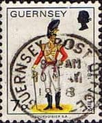 Guernsey 1974 Military Uniforms SG 107a Officer, East Regiment Fine Used