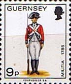 Guernsey 1974 Military Uniforms SG 109 Private 4th West Regiment Fine Mint