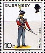Postage Stamps Guernsey 1974 Military Uniforms SG 110 Officer 4th West Regiment Fine Mint Scott 107