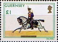 Guernsey 1974 Military Uniforms SG 113 Cavalry Trooper Light Dragoon Fine Mint