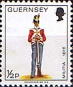 Stamps Guernsey 1974 Military Uniforms SG 98 Private East Regiment Fine Mint