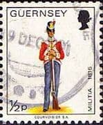 Guernsey 1974 Military Uniforms SG 98 Private East Regiment Fine Used