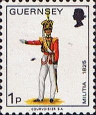 Great Britain Regional Stamp Stamps Guernsey 1974 Military Uniforms SG 99 Officer 2nd North Regiment Fine Used SG 99 Scott 96