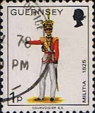 Channel Islands Stamps Stamp Guernsey 1974 Military Uniforms SG 99 Officer 2nd North Regiment Fine Used SG 99 Scott 96