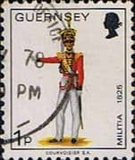 Guernsey 1974 Military Uniforms SG 99 Officer, 2nd North Regiment Fine Used
