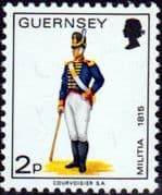 Guernsey 1974 Military Uniforms SG101 Gunner Artillery Fine Mint