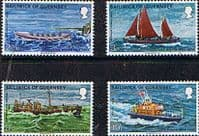 Guernsey 1974 Royal National Lifeboat Institution Boats Set Fine Mint