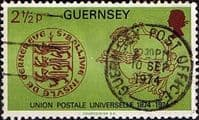 Guernsey 1974 Universal Postal Union SG 114 UPU Fine Used
