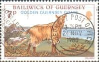 Guernsey 1980 Animals Golden Goats SG 217 Fine Used