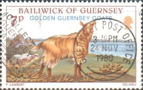 Guernsey 1980 Animals Golden Goats SG 218 Fine Used Scott 210