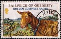 Guernsey 1980 Animals Golden Goats SG 218 Fine Used