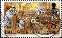 Guernsey 1982 Christmas SG 263 Fine Used