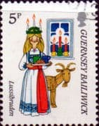 Guernsey 1985 Christmas SG 344 Fine Used