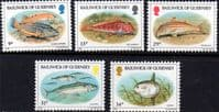 Guernsey 1985 Fishes Set Fine Mint
