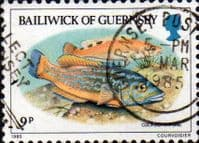 Guernsey 1985 Fishes SG 332 Fine Used