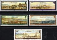 Guernsey 1985 Paintings by Paul Jacob Naftel Set Fine Mint