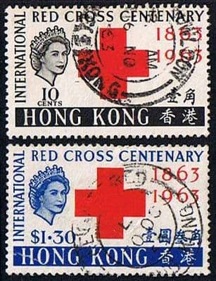 Hong Kong 1963 Red Cross Centenary Set Fine Used