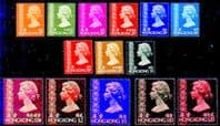 Hong Kong 1973 Queen Elizabeth II Complete Set to $20 Fine Mint