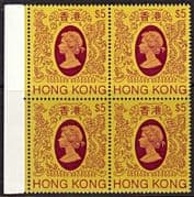 Hong Kong 1982 Queen Elizabeth II SG 484 Fine Mint Block of 4