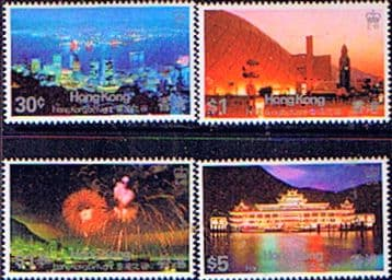 Chinese Stamp Stamps Hong Kong 1983 HK By Night Set Fine Mint