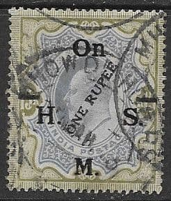 India 1925 O H M S Surcharged  SG O99 Good Used