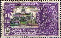 India 1935 King George V Silver Jubilee SG 243 Fine Used