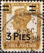 India 1946 King George VI Surcharged SG 282 Fine Used