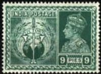 India 1946 King George VI Victory SG 278 Fine Mint