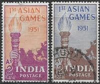 India 1951 Asian Games Set Fine Used