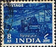 India 1955 Five Year Plan SG 362 Train Fine Used