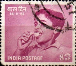 India 1957 SG 389 Chidrens Day Fine Used