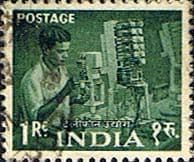 India 1958 Five Year Plan SG 413 Telephone Engineer Fine Used