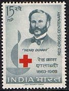 India 1963 Red Cross Centenary Fine Mint