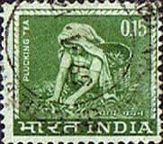 India 1965 SG 510 Plucking Tea Fine Used