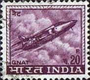 India 1965 SG 511 Hindustan Aircraft Industries Ajeet Jet Fighter Fine Used